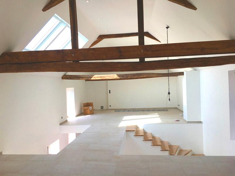 Construction maison charpente apparente